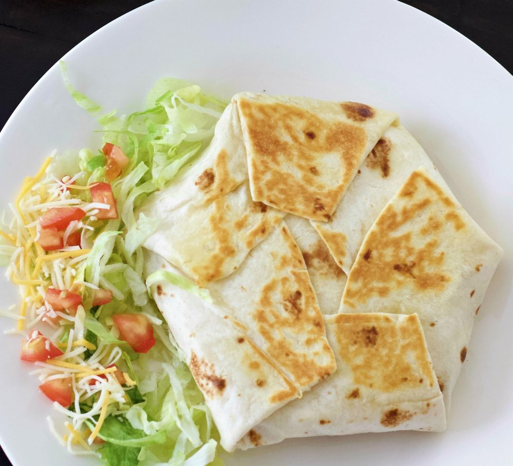Crunchwrap Supreme Plated With Vegetables