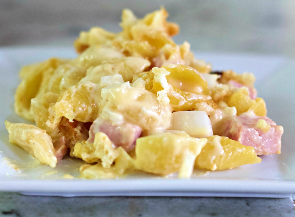 Cheese And Ham Casserole-Single Serving