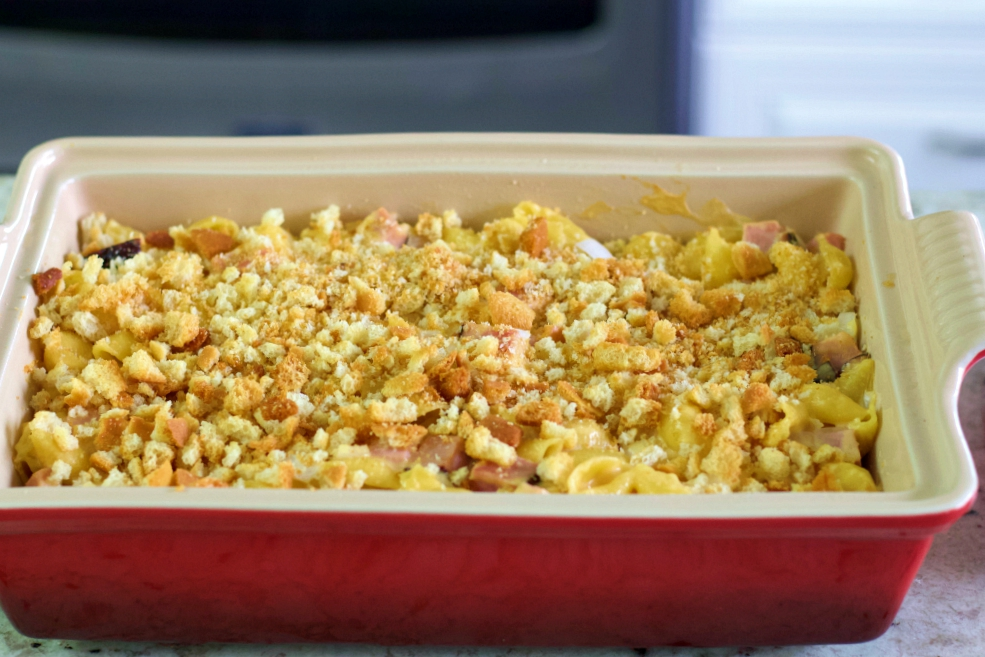 Pasta Casserole With Ham And Cheese