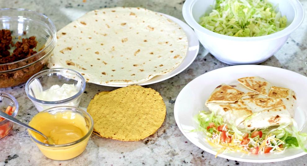 Crunchwrap Supreme With Layering Ingredients