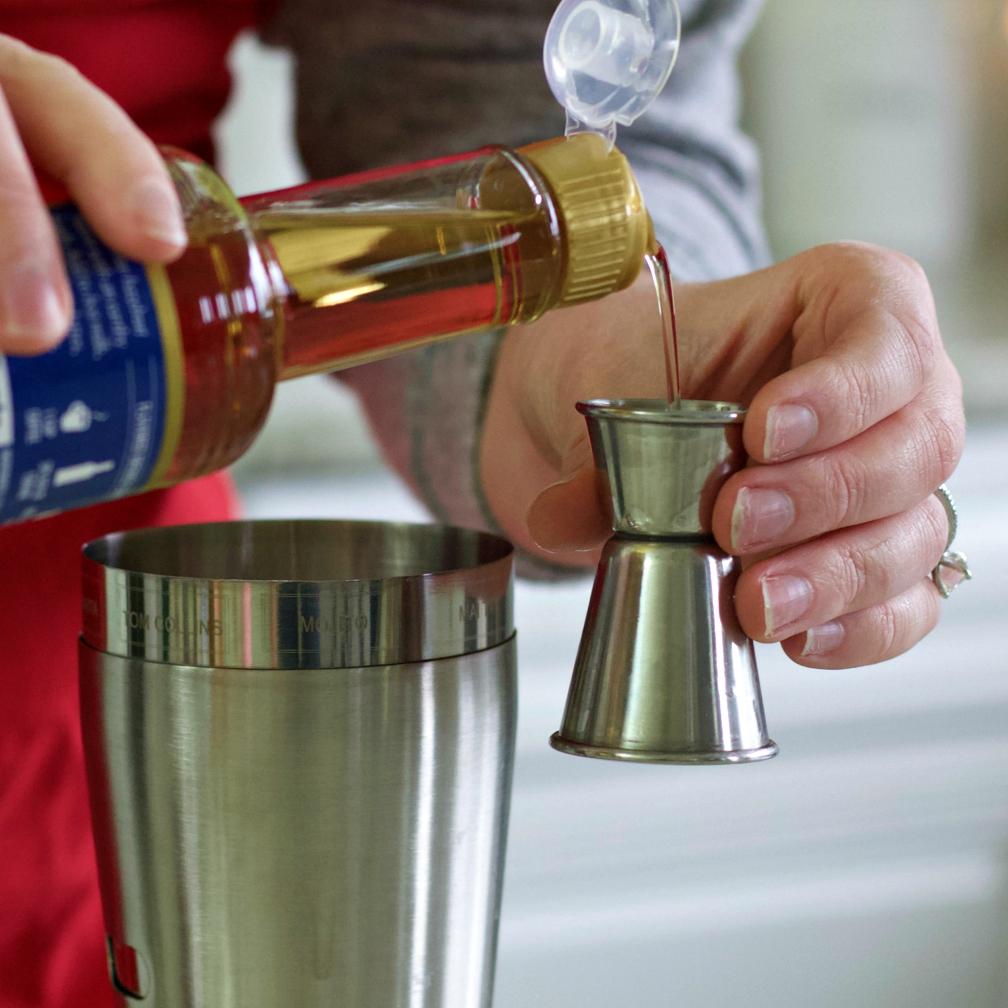 Measuring Torani Caramel Syrup
