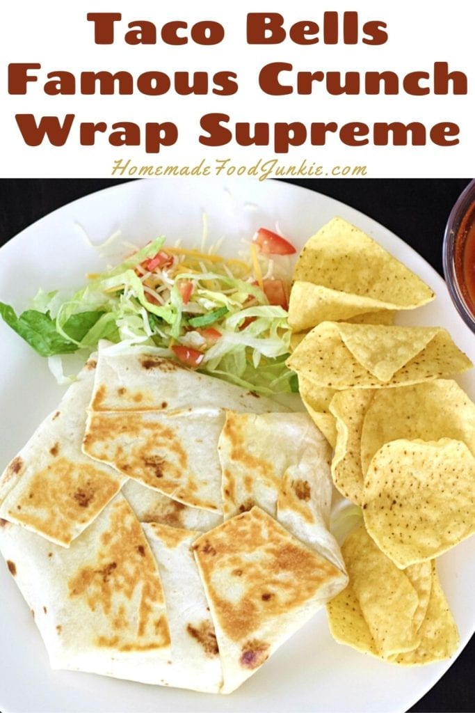 Taco bells famous crunch wrap supreme-pin image