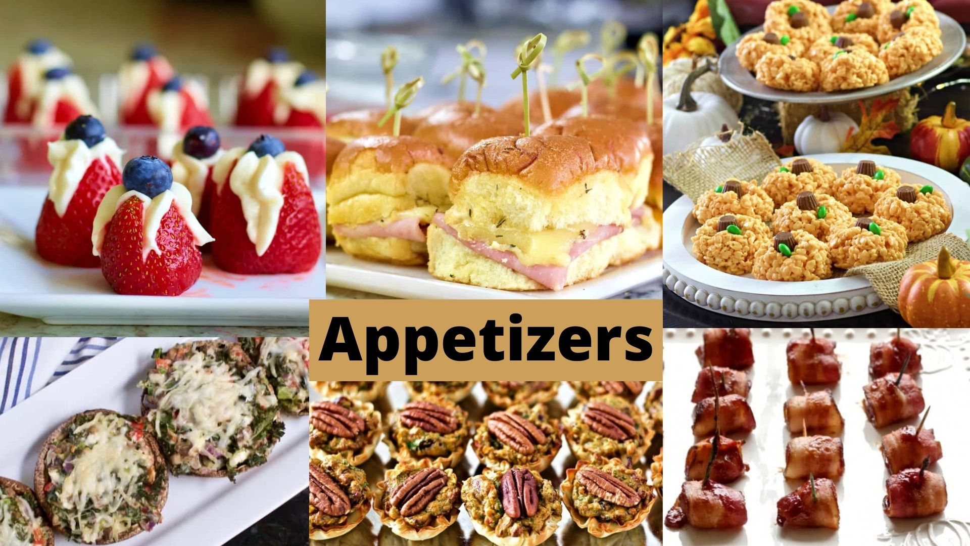 Appetizers for a delicious bite of yum at a party.