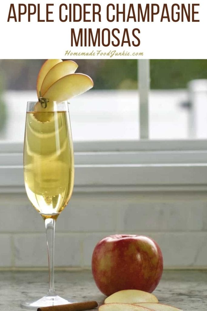 Apple cider champagne mimosas-pin image