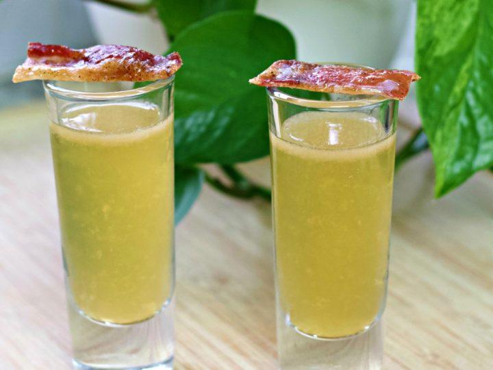Irish breakfast shots with bacon