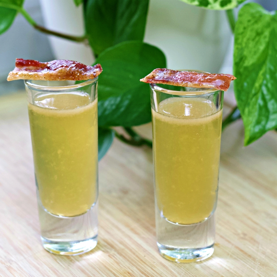 Irish breakfast shots with bacon