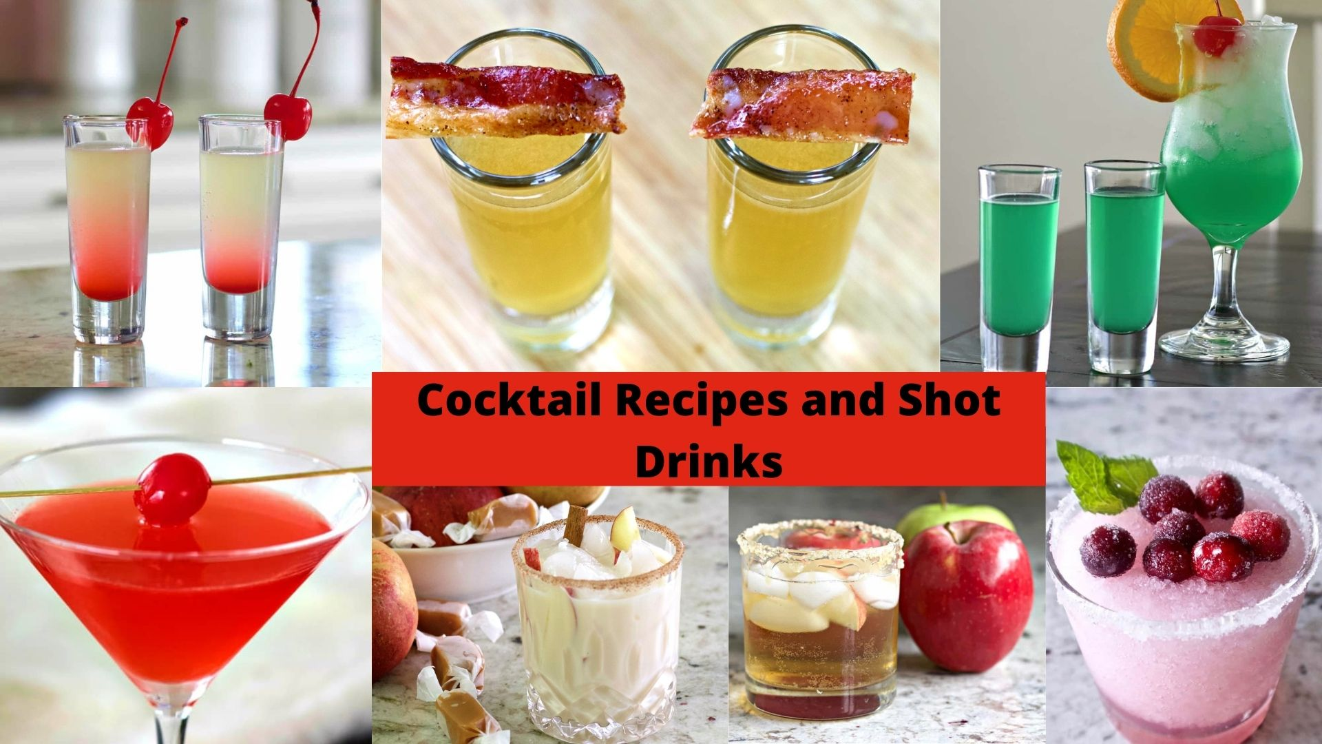 Cocktails and Shot drinks recipes
