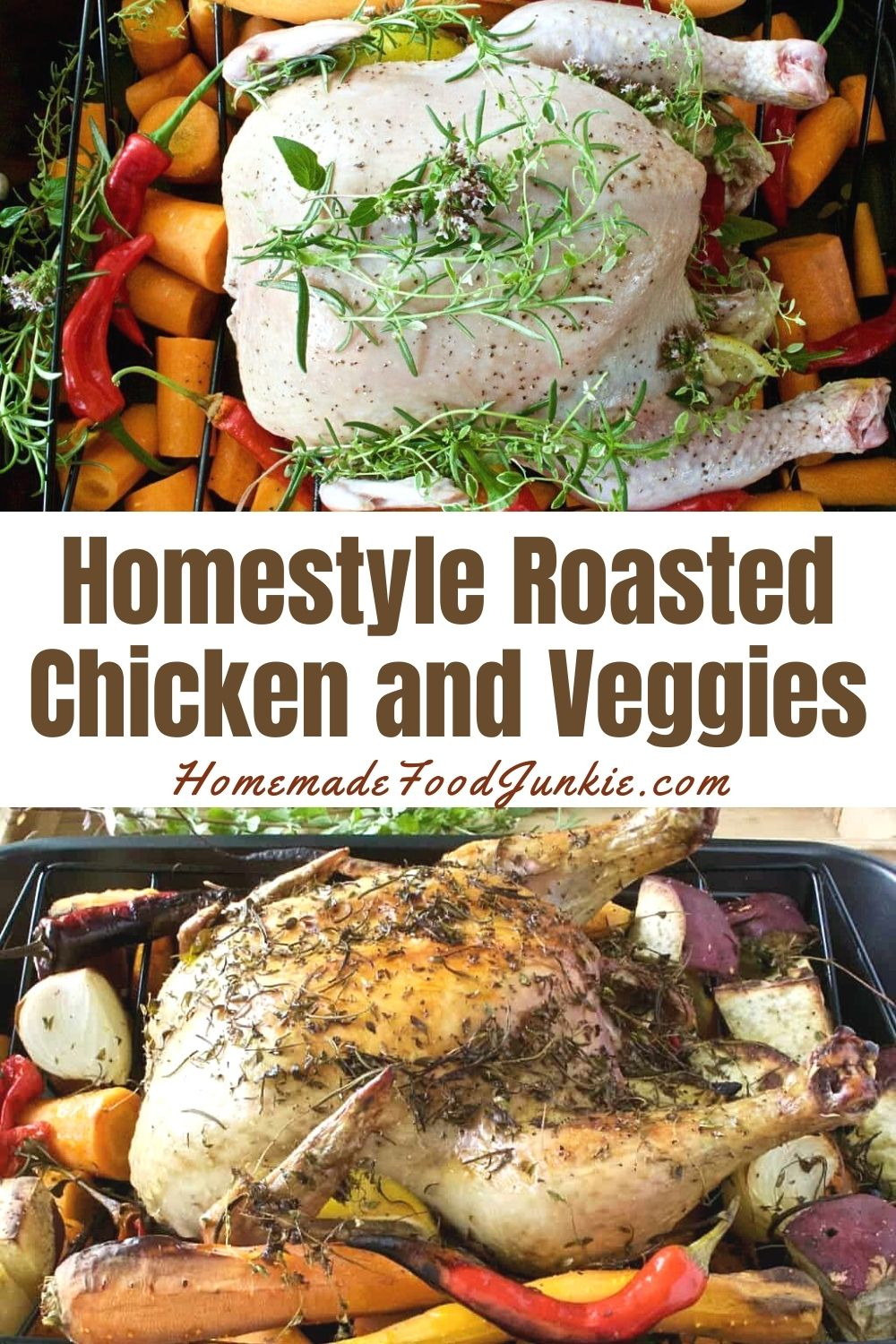 Homestyle Roasted Chicken And Veggies-Pin Image