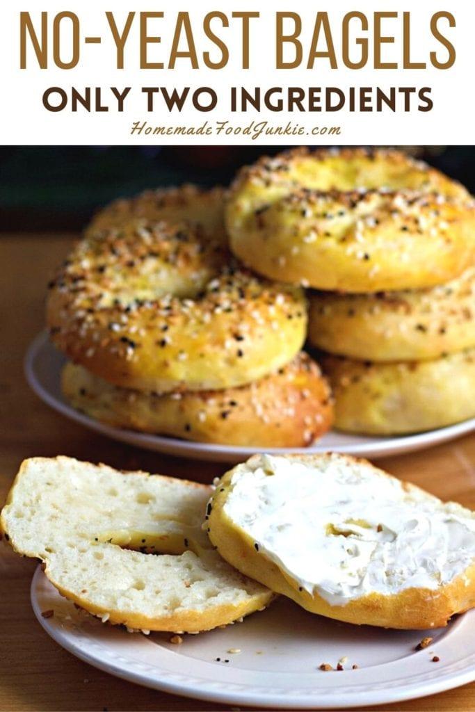 No yeast bagels-pin image
