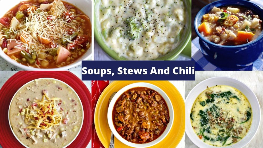 soup recipes collage