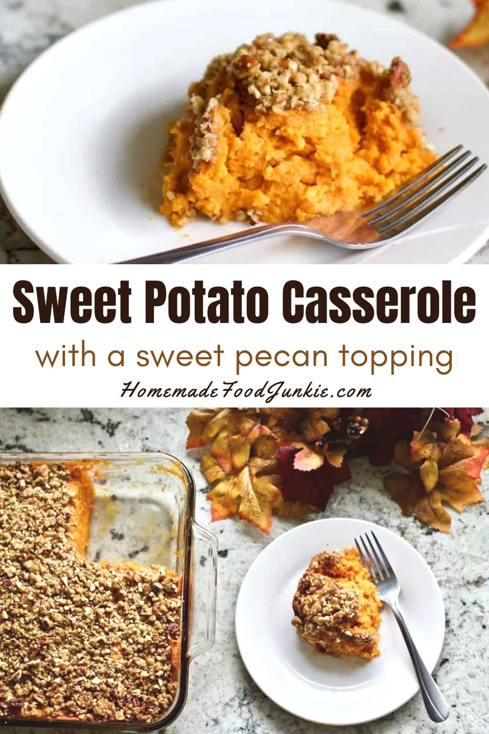 Sweet Potato Casserole With Pecan Topping-Pin Image