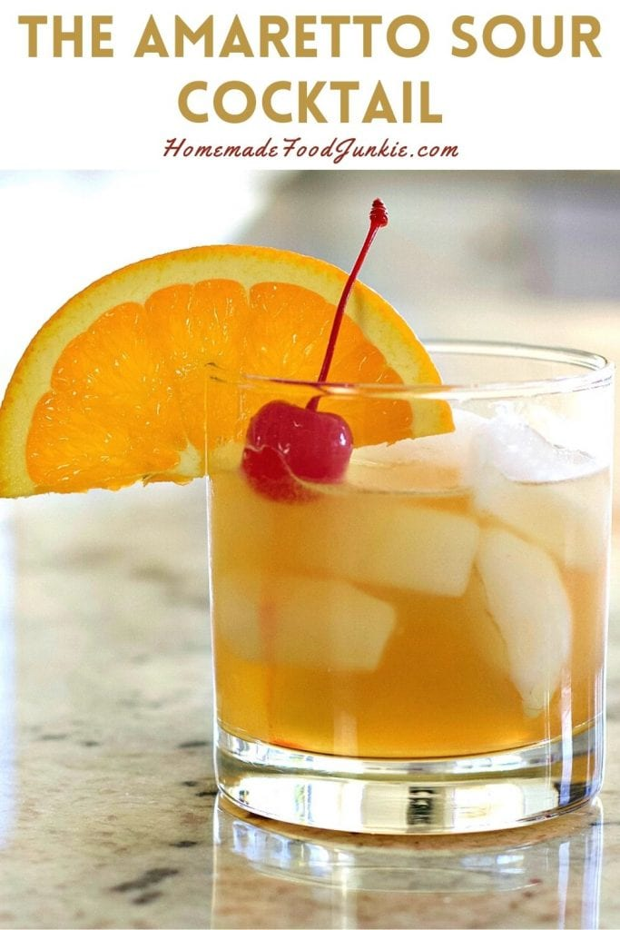 The amaretto sour cocktail-pin image