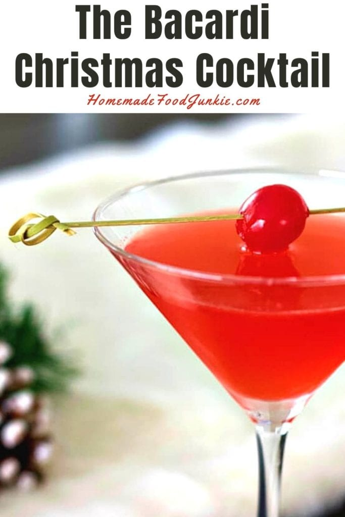 The bacardi christmas cocktail-pin image