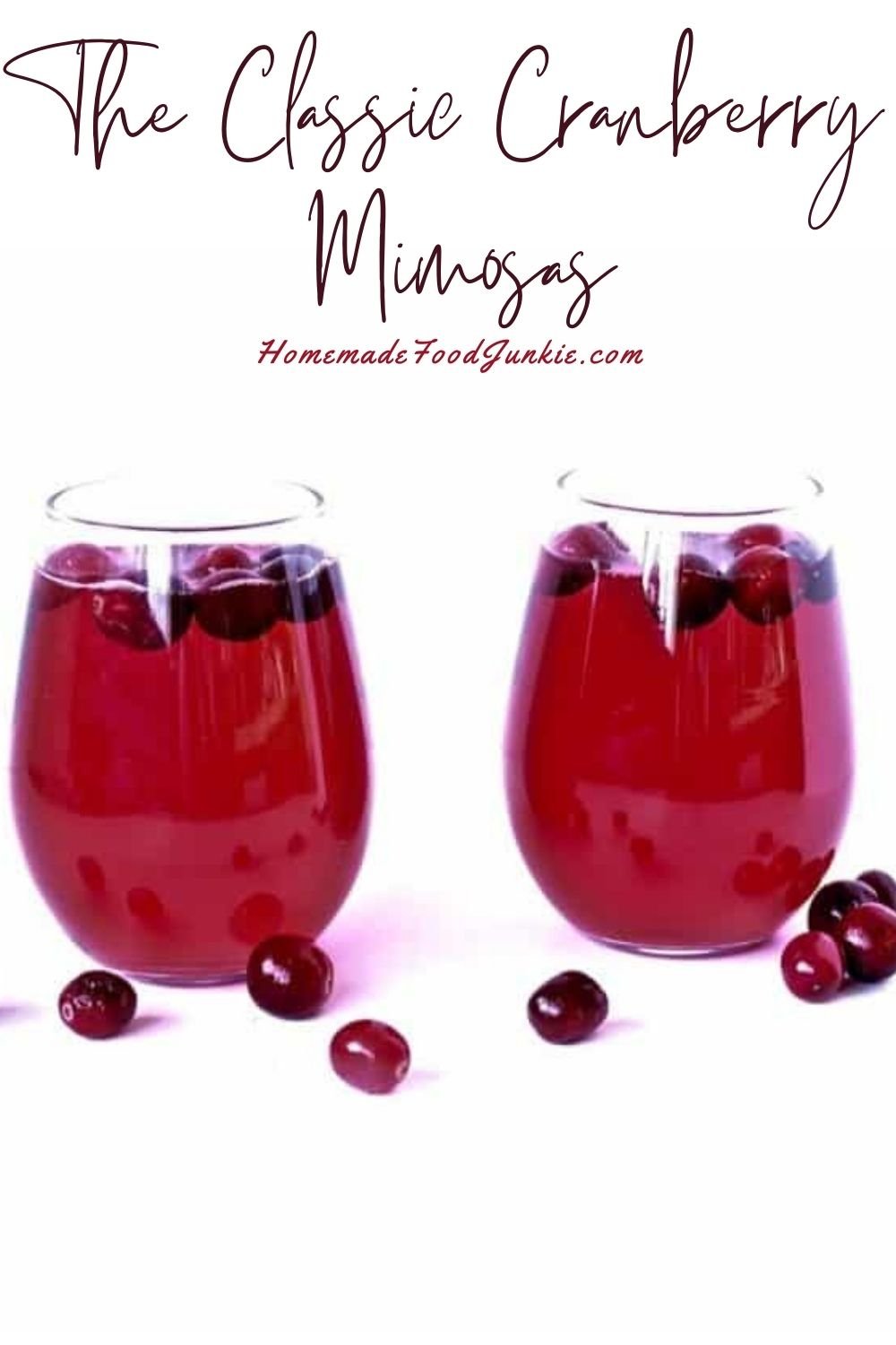 The classic cranberry mimosas-pin image
