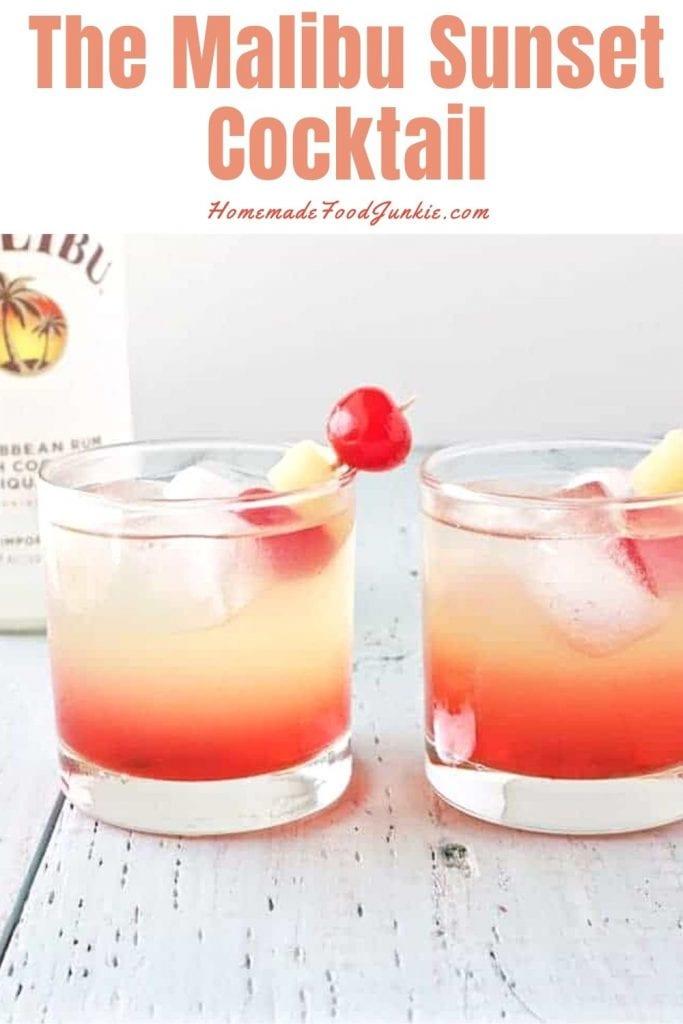 The malibu sunset cocktail-pin image