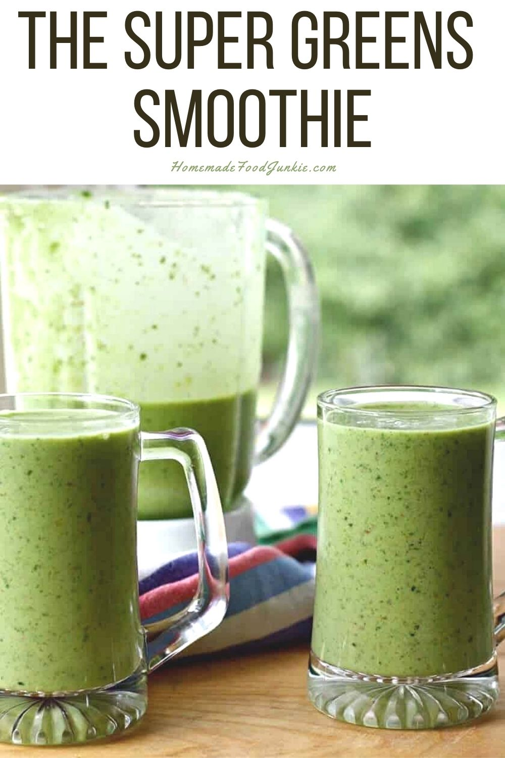 The super greens smoothie-pin image