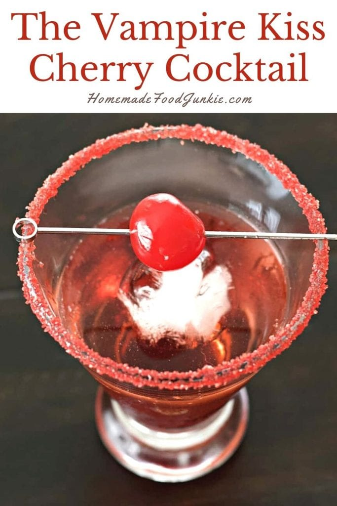 The vampire kiss cherry cocktail-pin image