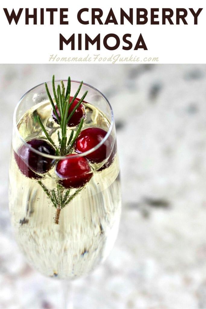 White Cranberry Mimosa-Pin Image