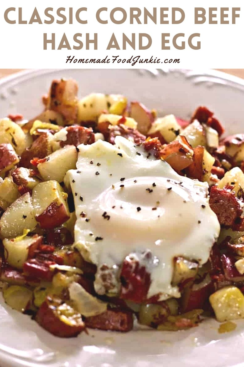 Classic Corned Beef Hash And Egg-Pin Image