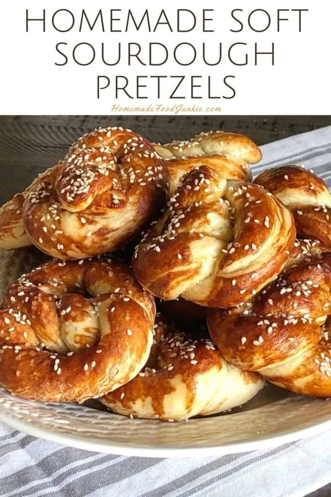 Homemade Soft Sourdough Pretzels-Pin Image
