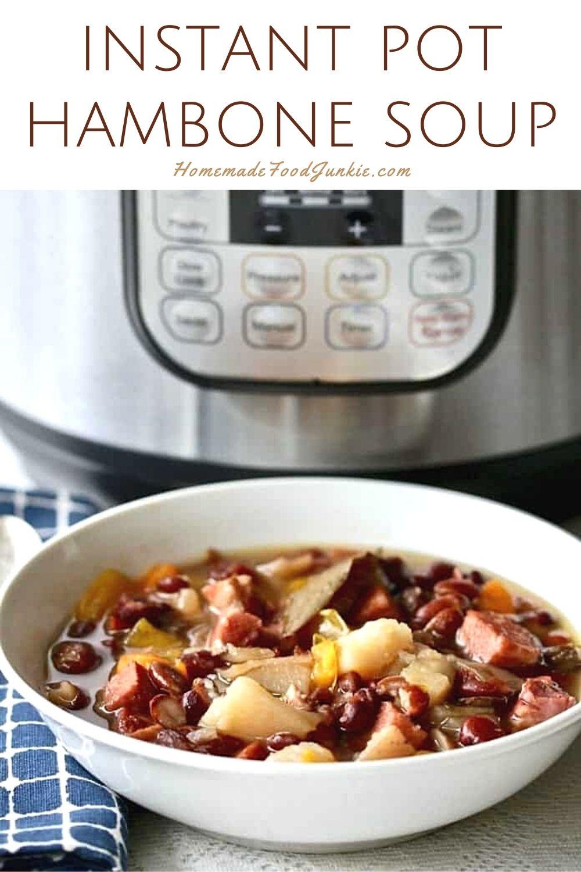 Instant pot hambone soup-pin image