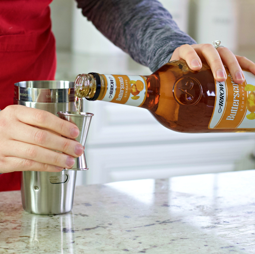 measure and pour butterscotch schnapps