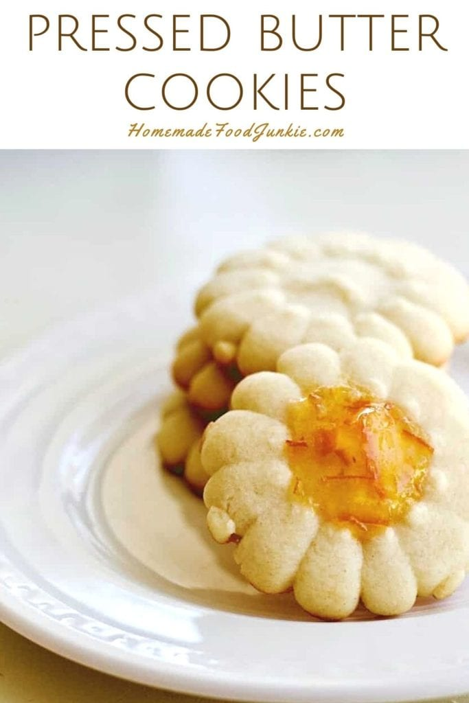 Pressed butter cookies-pin image