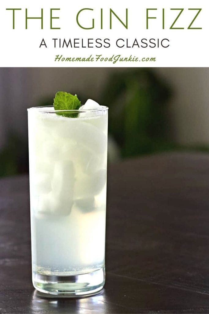 The gin fizz-pin image