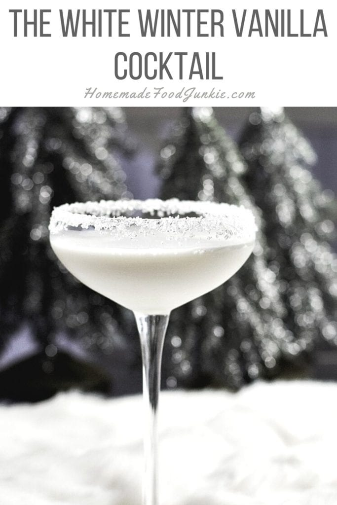Winter white rum cocktail-pin image