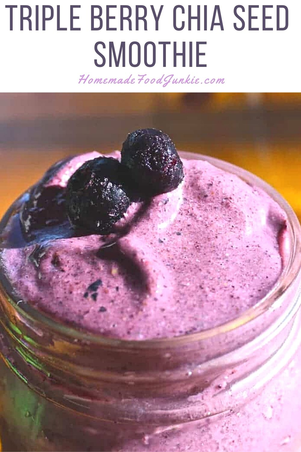 Triple Berry Chia Seed Smoothie-Pin Image