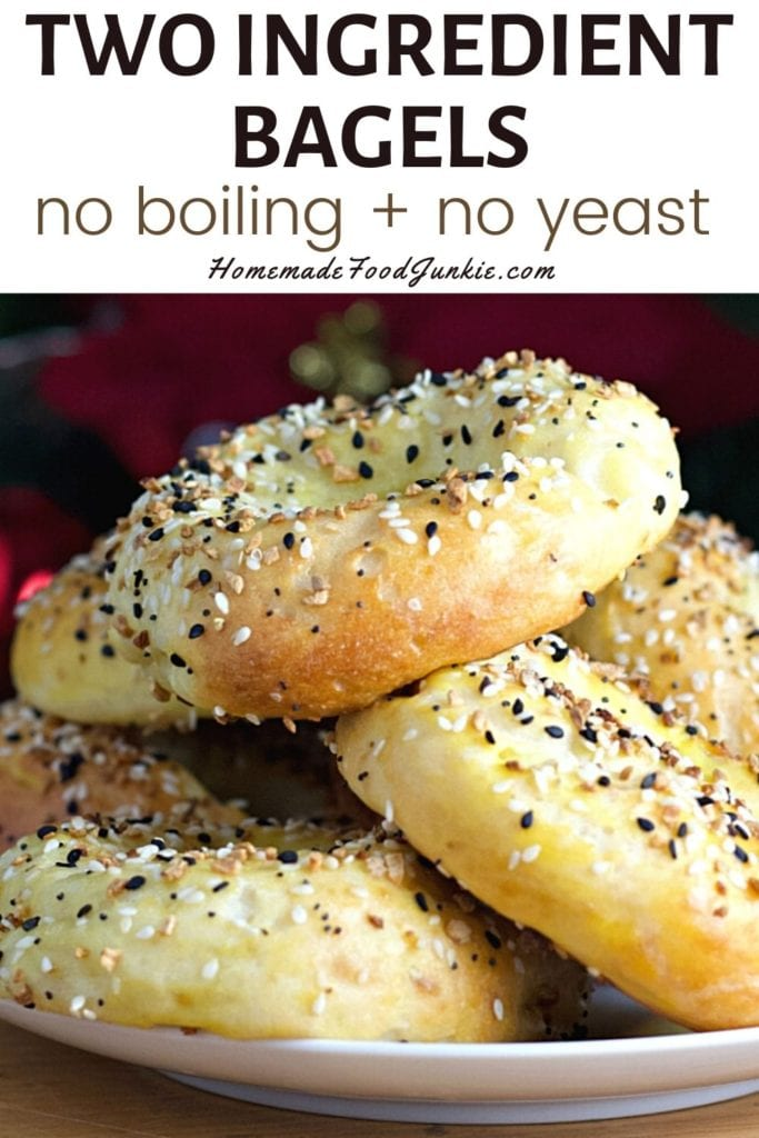 Two ingredient bagels no boiling and no yeast-pin image