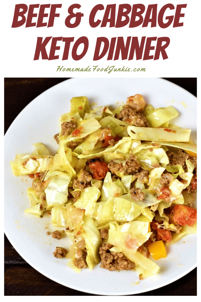 Beef and cabbage keto dinner-pin image