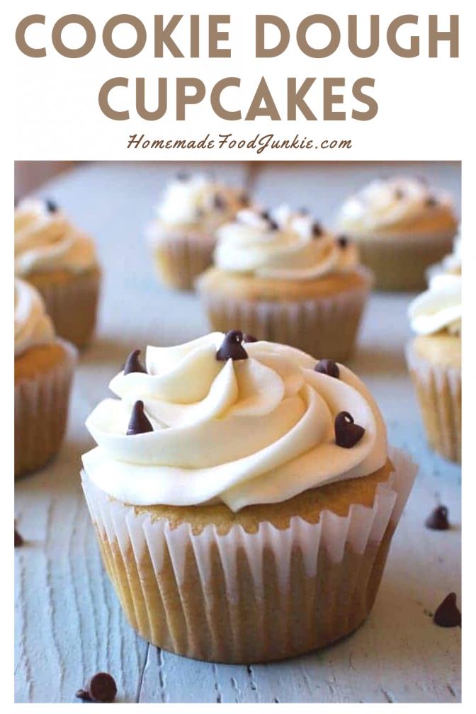 Cookie dough cupcakes-pin image
