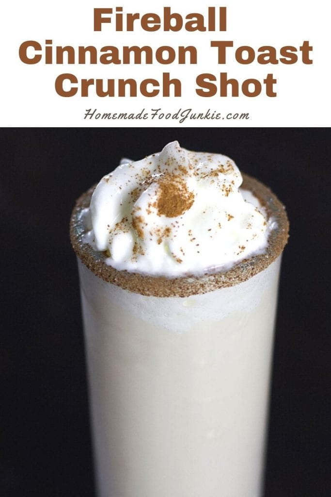 Fireball cinnamon toast crunch shot-pin image