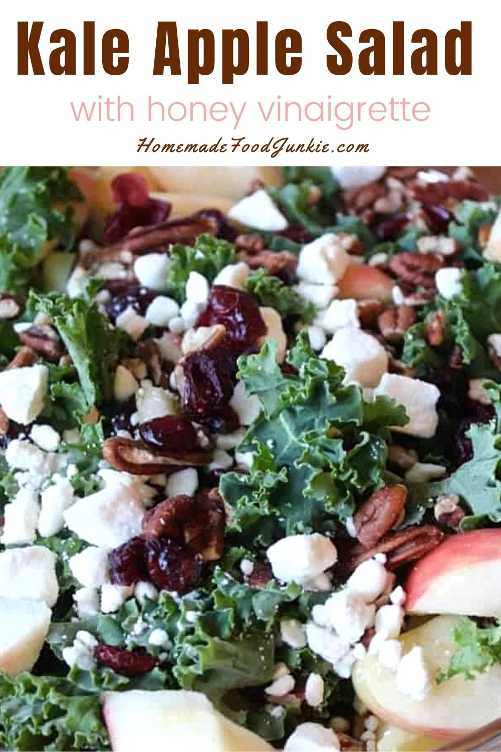 Kale apple salad-pin image