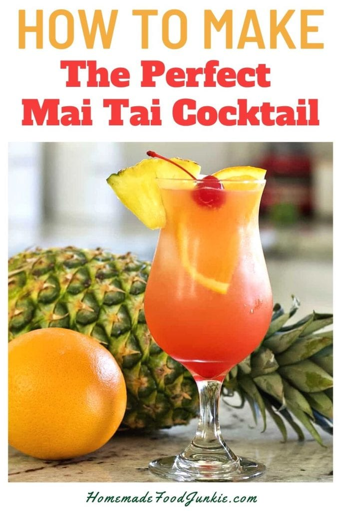 How to make the perfect mai tai cocktail-pin image