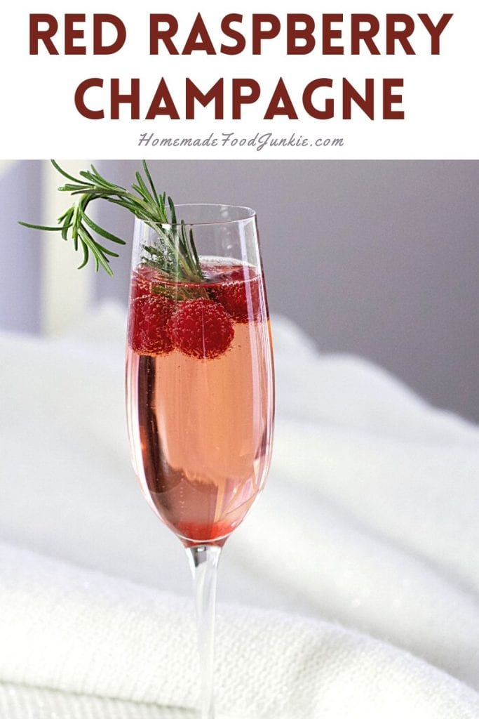 Red raspberry champagne-pin image