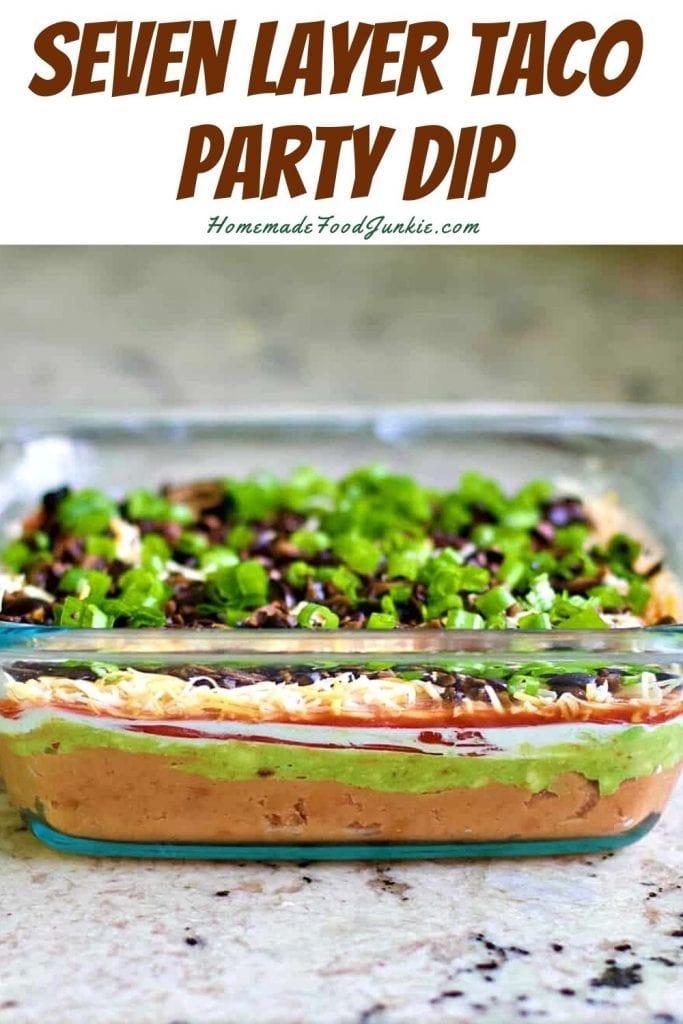 Seven layer taco party dip-pin image