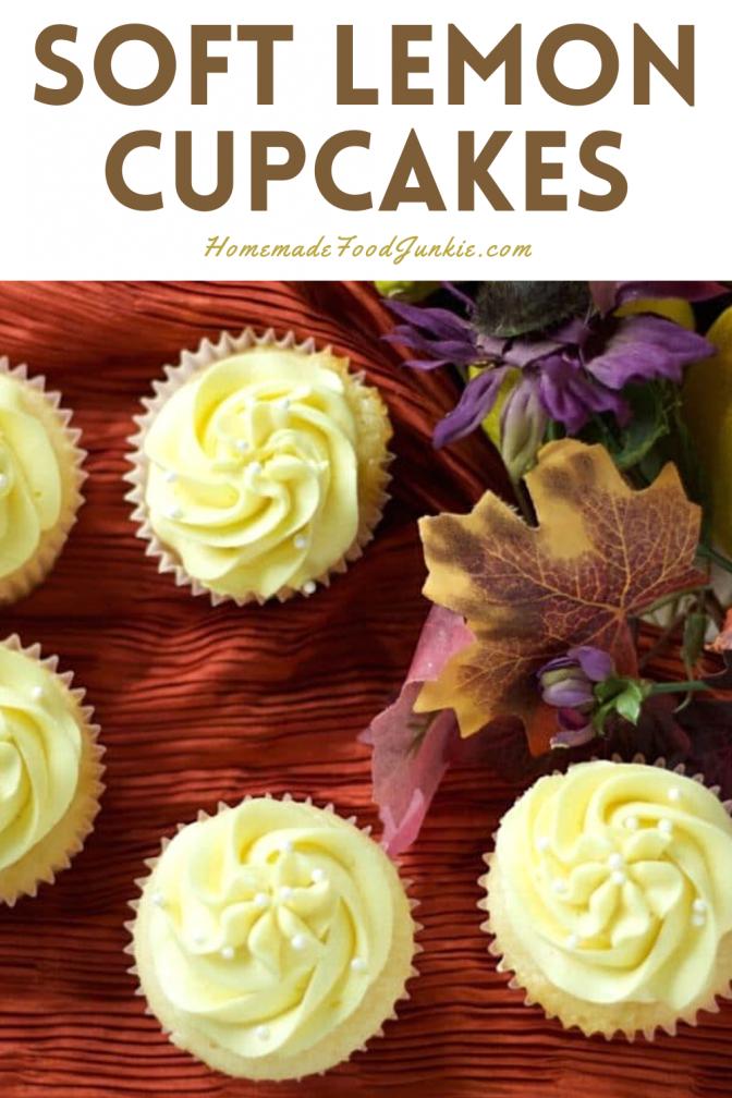Soft Lemon Cupcakes-Pin Image