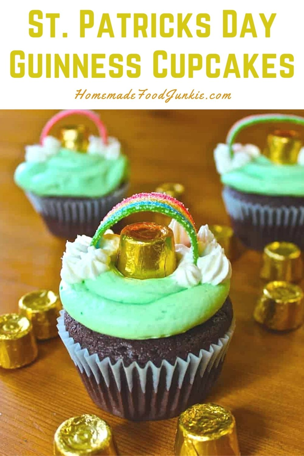 St. Patricks Day Guinness Cupcakes-Pin Image
