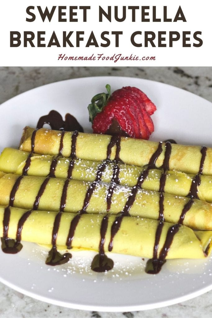 Sweet Nutella Breakfast Crepes-Pin Image