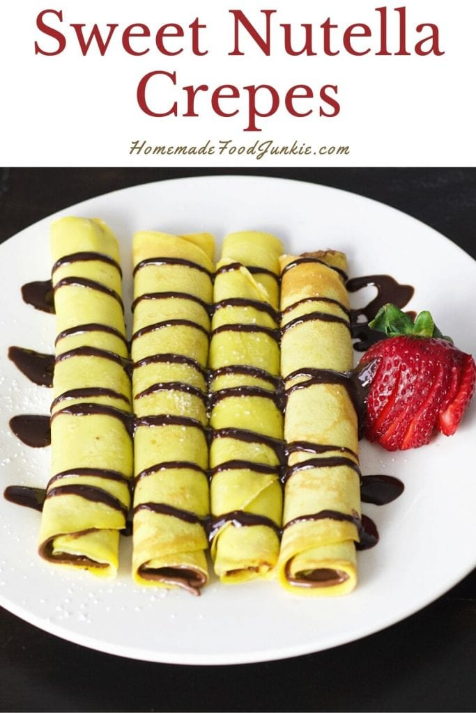 Sweet nutella crepes-pin image