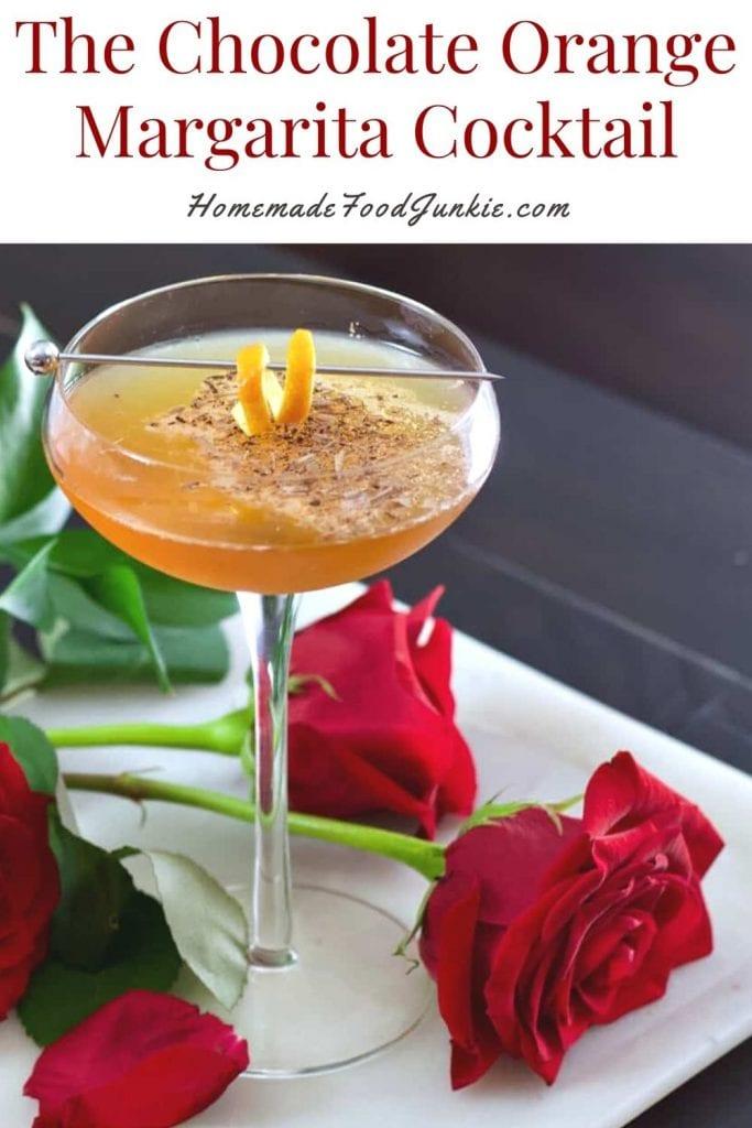 The chocolate orange margarita cocktail-pin image