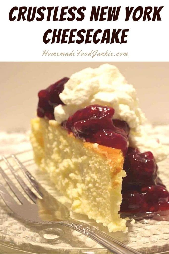Crustless New York Cheesecake-Pin Image