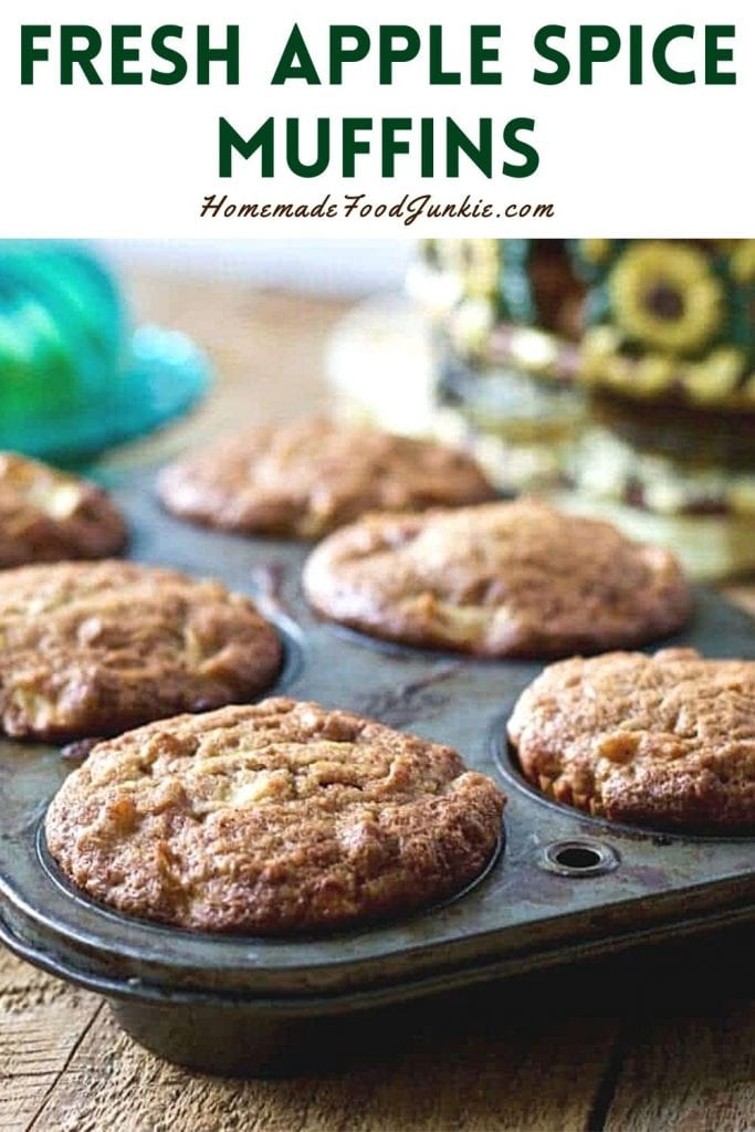 Fresh apple spice muffins-pin image