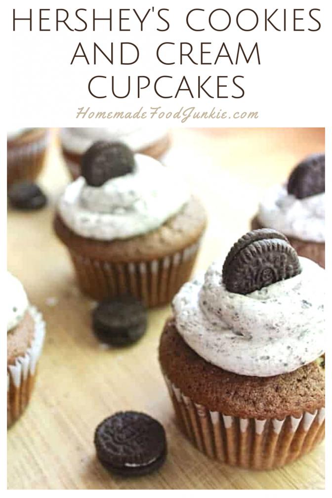 Hershey's Cookies And Cream Cupcakes-Pin Image