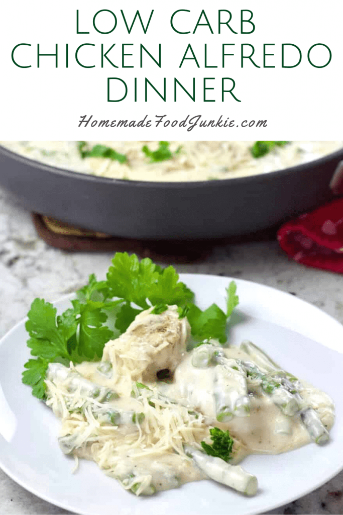 Low Carb Chicken Alfredo Dinner-Pin Image