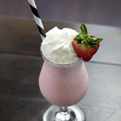 boozy strawberry shake