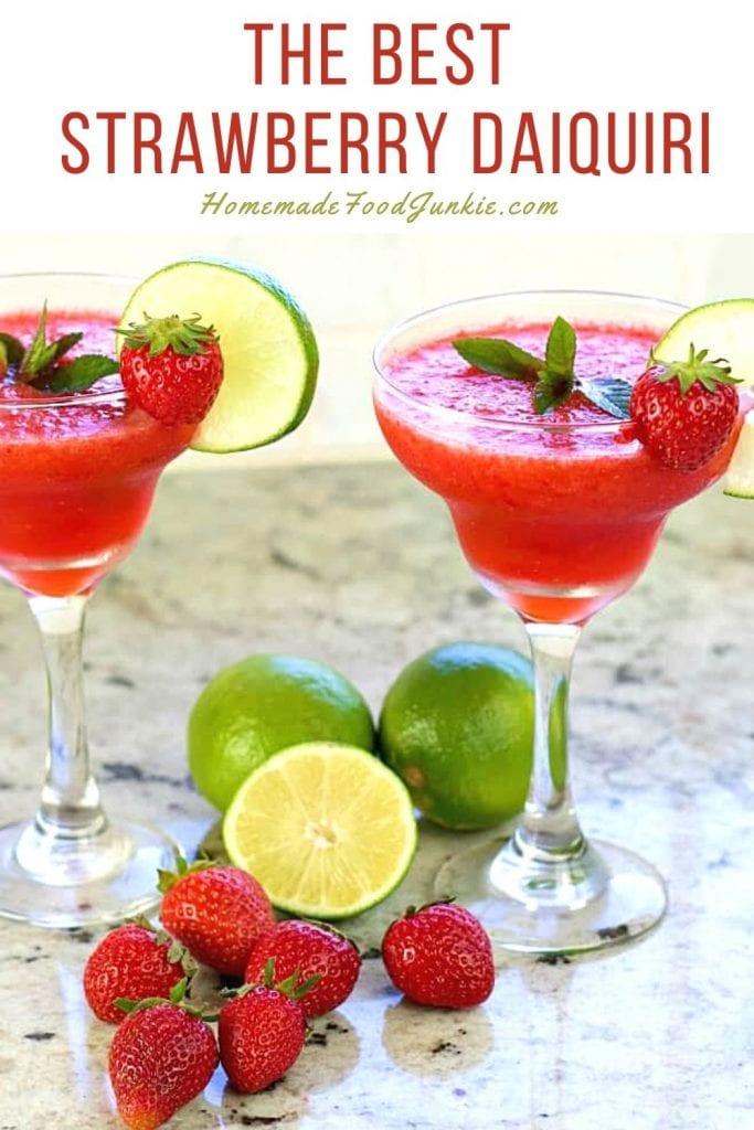 The best strawberry daiquiri-pin image