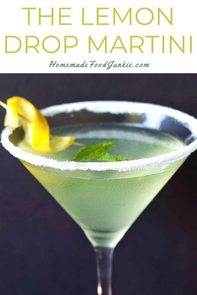 The Lemon Drop Martini-Pin Image